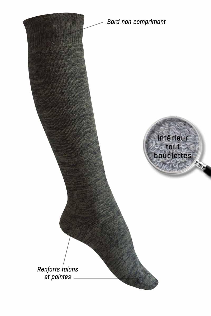 2153497de03 Chaussettes laine hautes Randonnée - Missègle   Fabricant français de chaussette  laine