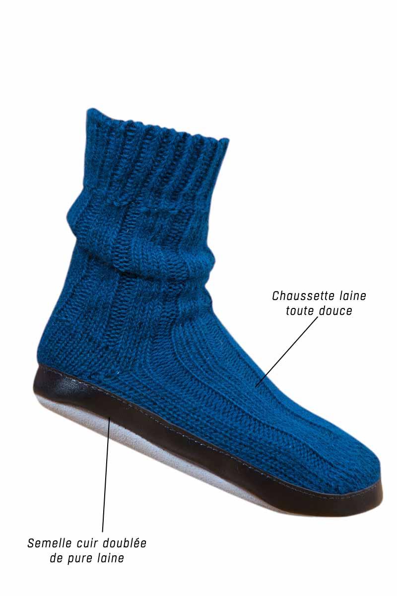 chausson chaussette bleu paon miss gle fabricant fran ais de chaussons chaussettes. Black Bedroom Furniture Sets. Home Design Ideas