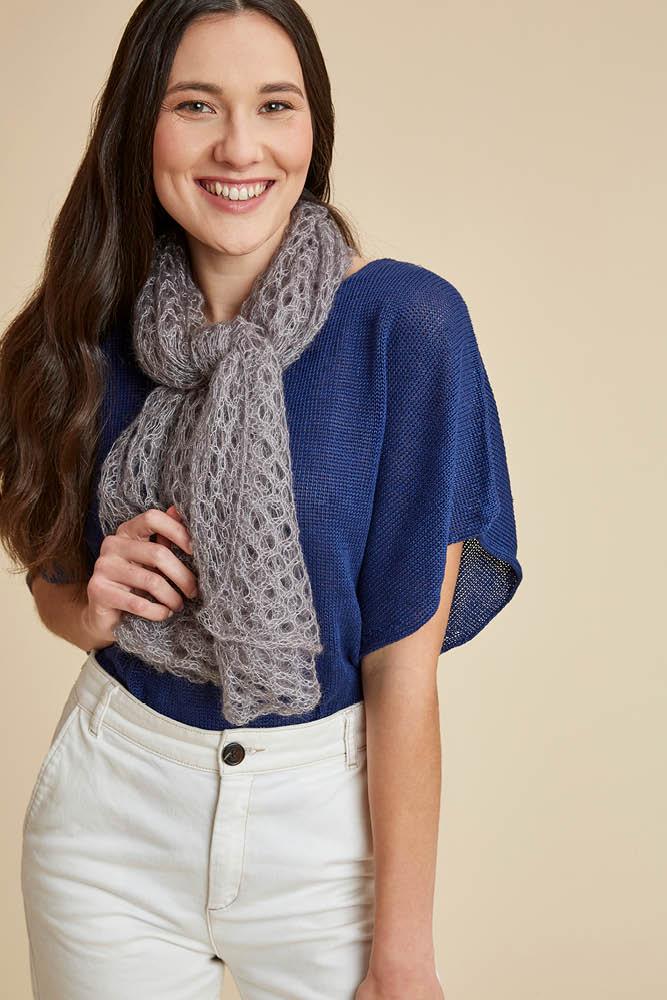 vente la moins chère classique le plus fiable Carré foulard laine mohair et soie