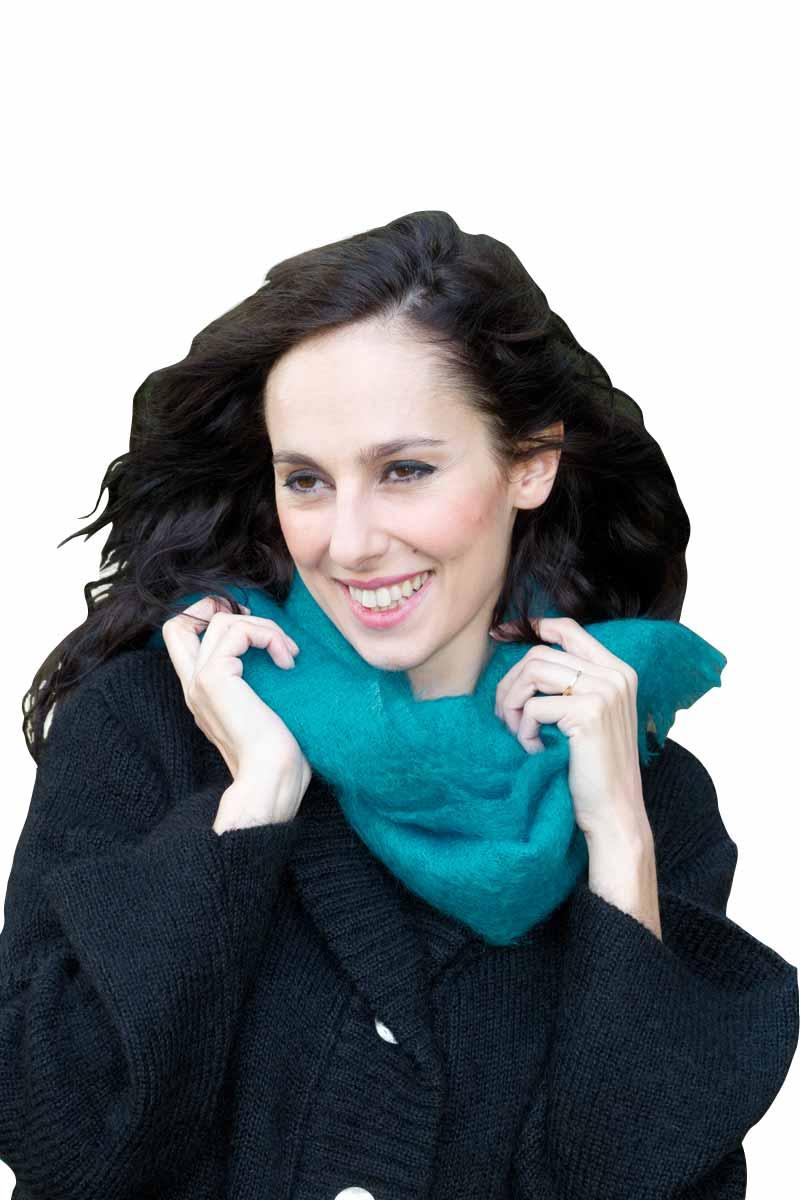 a9b7c45c32f6 Echarpe laine mohair et soie unie - Missègle  vente d echarpe en laine Made  in France