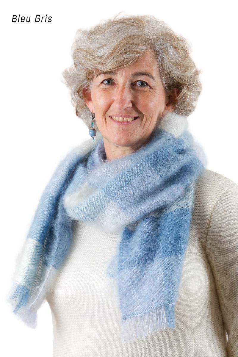 grande echarpe ecossaise femme laine mohair miss gle vente d 39 echarpe en laine made in france. Black Bedroom Furniture Sets. Home Design Ideas