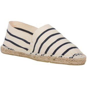 Espadrilles traditionnelles Ecru/Marine - Missègle: vente d'espadrilles Made in France