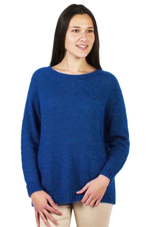 Pull laine jersey col rond