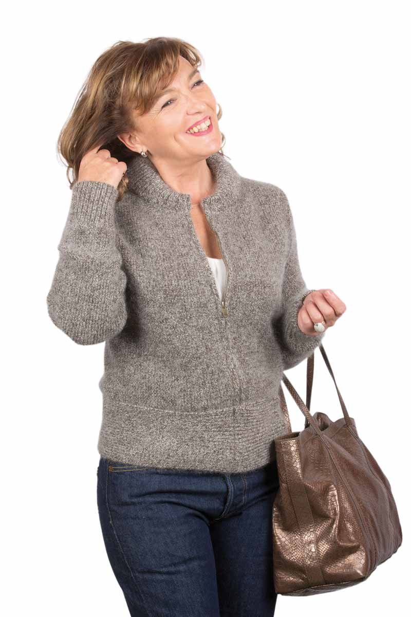 blouson laine zipp yack mohair et soie miss gle tricote votre gilet en laine. Black Bedroom Furniture Sets. Home Design Ideas