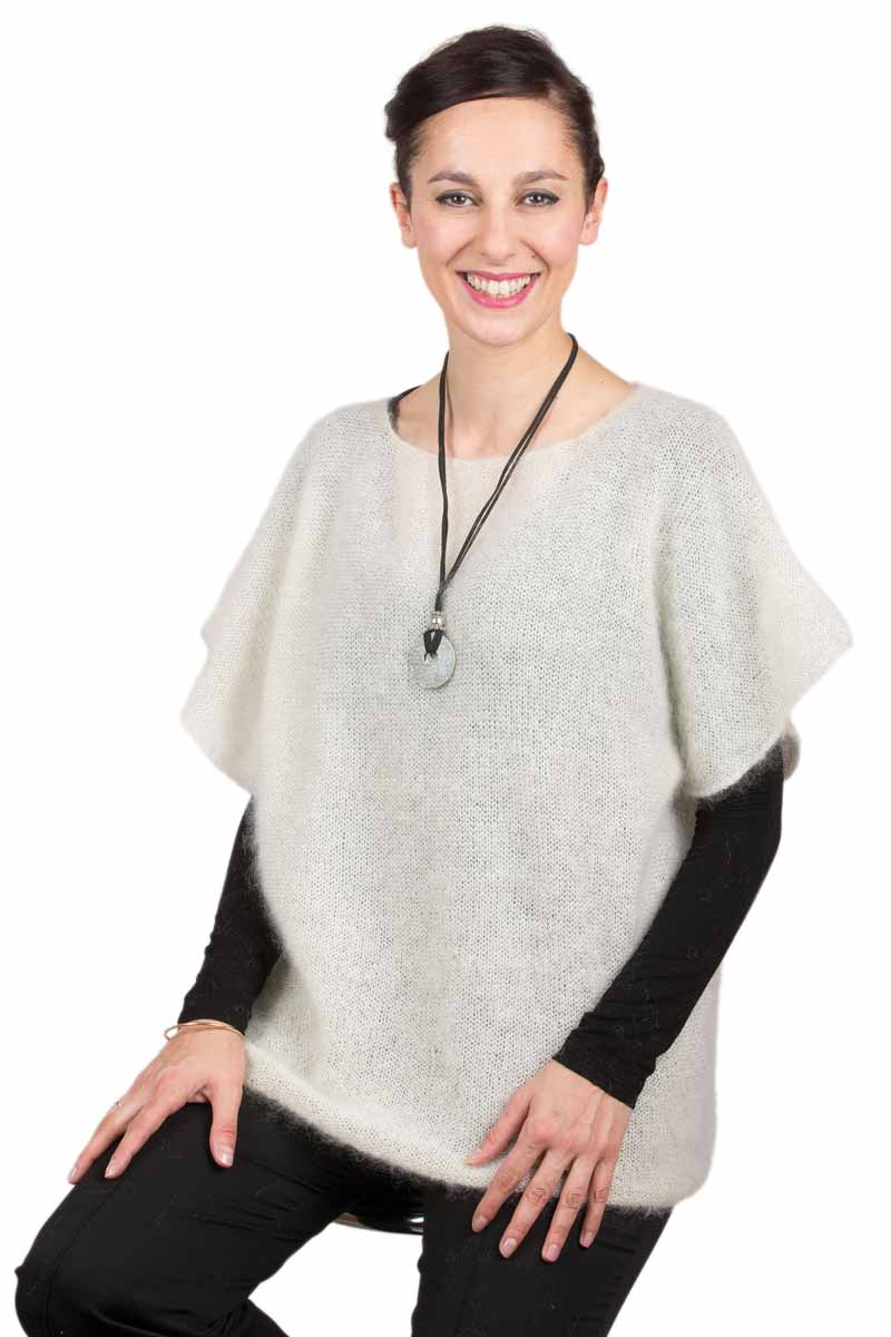 Pull mohair manches courtes T.44-52